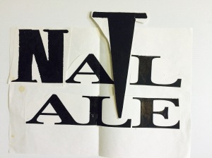 John's original logo design literally cut and pasted together